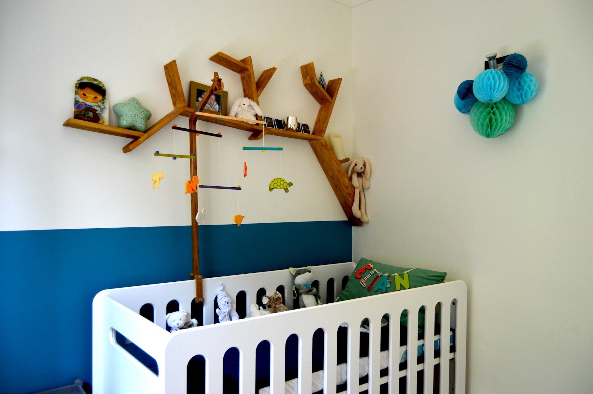 Décoration d'une chambre de bébé à Vence par Sylvie Aldebert, Décoratrice UFDI sur Antibes, Cagnes-sur-mer, Grasse, Nice 06