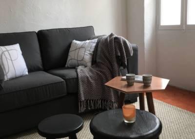 Home Staging Bien Vide La Colle sur Loup (06) Séjour meublé et décoré, par Maison Modèle, Home Stager & Décoratrice UFDI à Antibes 06 - trio de tables basses