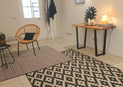 Home Staging Maison Vide Biot - Une entrée spacieuse et graphique, par Maison Modèle, Home Stager & Décoratrice UFDI à Antibes 06