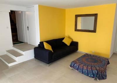 Aménagement d'un sous-sol de maison – Tanneron (Var), par Sylvie Aldebert, Décoratrice UFDI à Antibes 06 - Salon TV