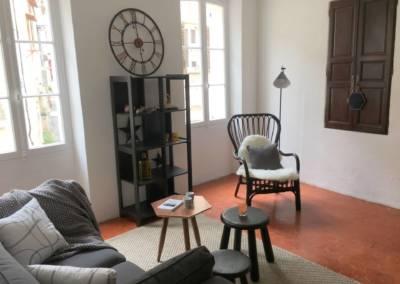 Home Staging Bien Vide La Colle sur Loup (06) Séjour meublé et décoré, par Maison Modèle, Home Stager & Décoratrice UFDI à Antibes 06