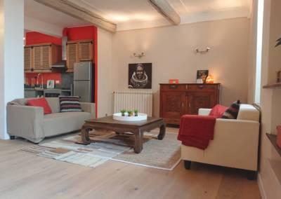 Home Staging Maison Vide Biot - Le coin salon, par Maison Modèle, Home Stager & Décoratrice UFDI à Antibes 06
